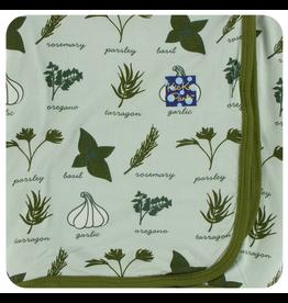 KICKEE PANTS Aloe Herbs Swaddling Blanket