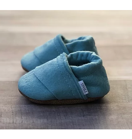 TRENDY BABY MOCC SHOP TBMS Sea Blue Felt Loafers