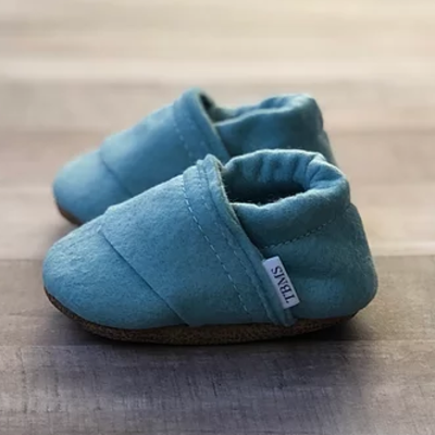 TBMS Sea Blue Felt Loafers
