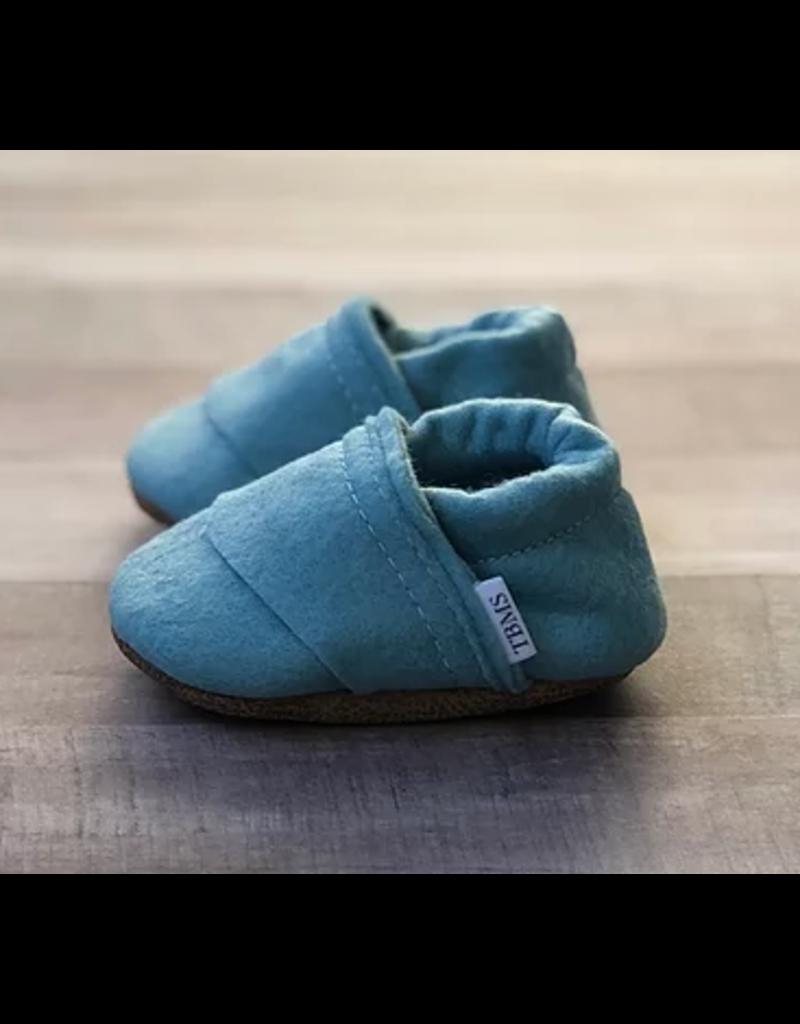 TRENDY BABY MOCC SHOP TBMS Sea Blue Felt Loafers