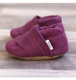 TRENDY BABY MOCC SHOP TBMS Deep Purple Felt Loafers