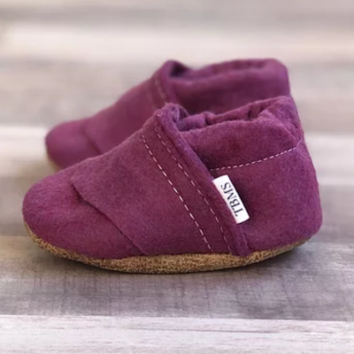 TBMS Deep Purple Felt Loafers