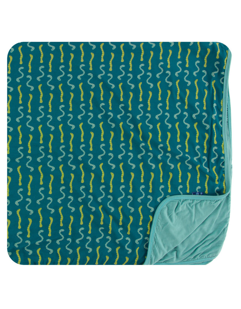 KICKEE PANTS Oasis Worms Toddler Blanket