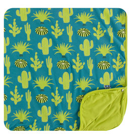KICKEE PANTS Seagrass Cactus Toddler Blanket