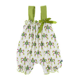KICKEE PANTS Natural Pinata Gathered Romper with Bow