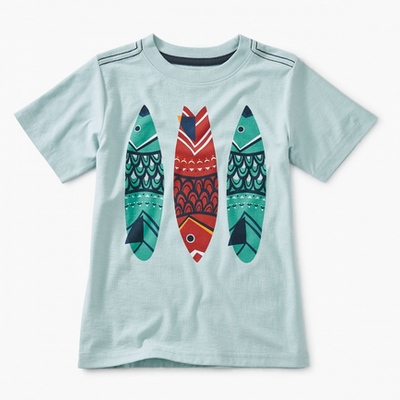 TEA COLLECTION Tea Fish Stick Graphic Tee