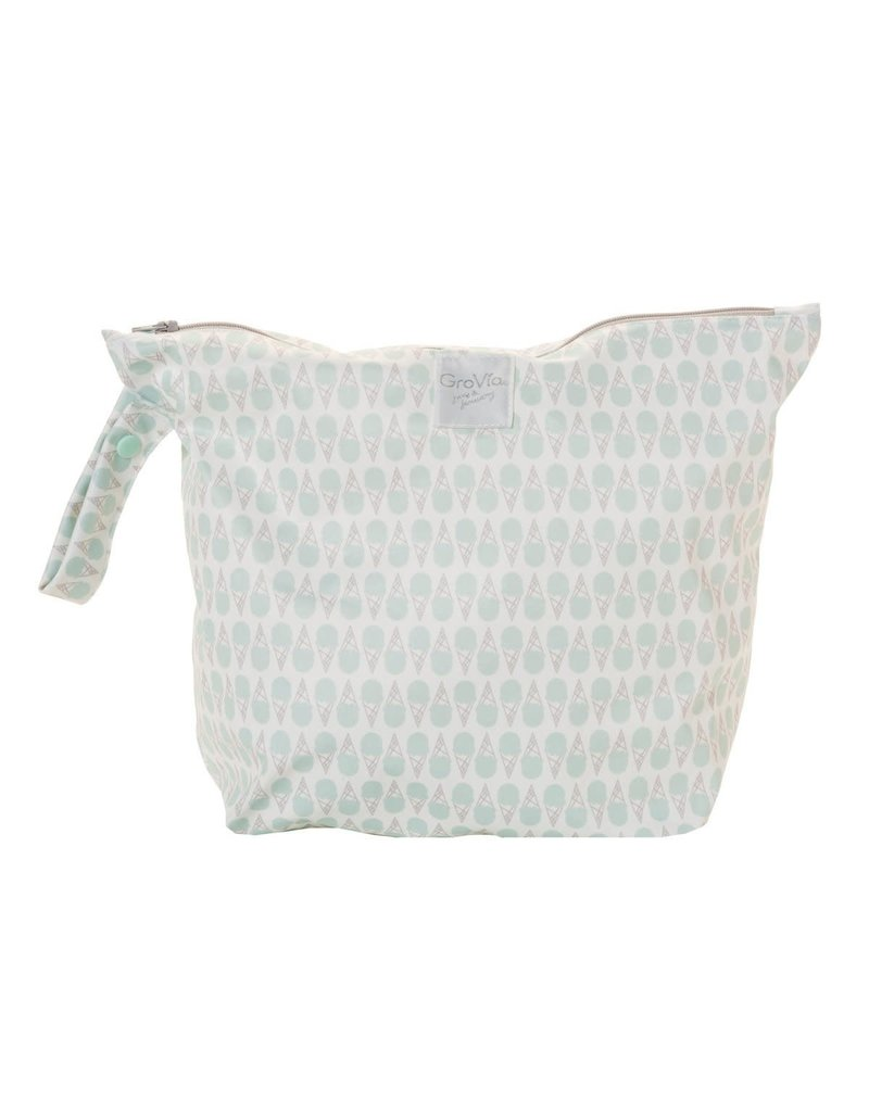 GROVIA GroVia Zippered Wet Bag - Soft Mint Ice Cream