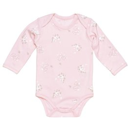 UNDER THE NILE Cottontail Bunny L/S Lap Shoulder Bodysuit