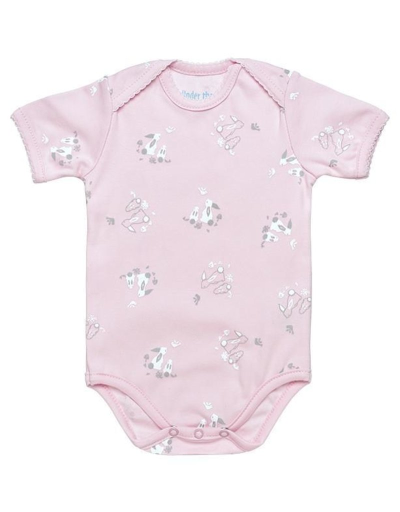 UNDER THE NILE Cottontail Bunny S/S Lap Shoulder Bodysuit