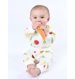 UNDER THE NILE Fruit & Veggie Muslin Side Snap Top/Pant Set