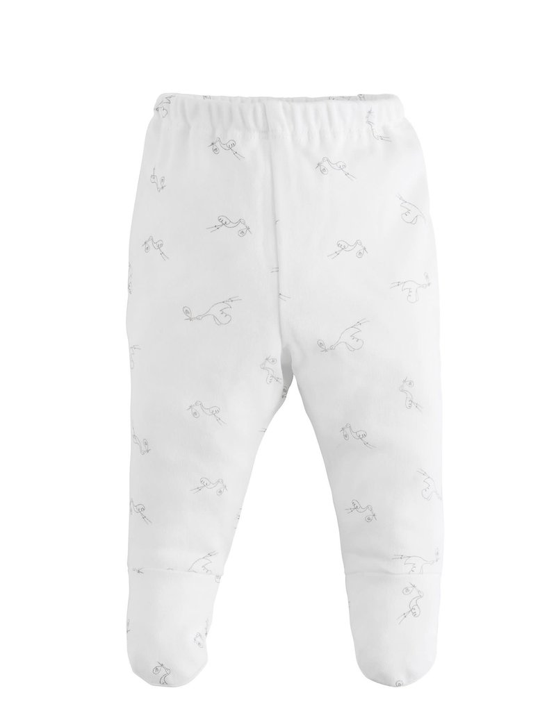 UNDER THE NILE Stork Print Footed Pant