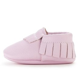 BIRDROCK BABY Lavender Leather Baby Moccasins