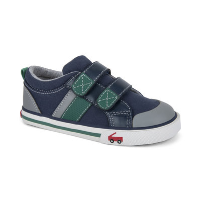 SEE KAI RUN Russell Navy/Green Sneaker
