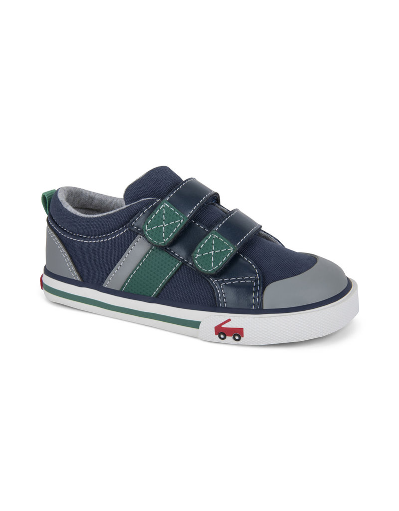 SEE KAI RUN Russell Navy/Green Sneaker