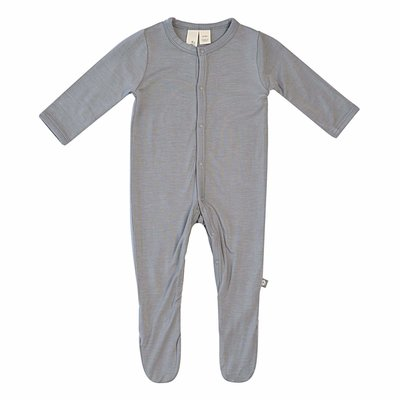 KYTE BABY Kyte Baby Solid Footie Graphite