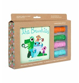 THE BRUSHIES Brushies Gift Set- English Book and 4 Brushies