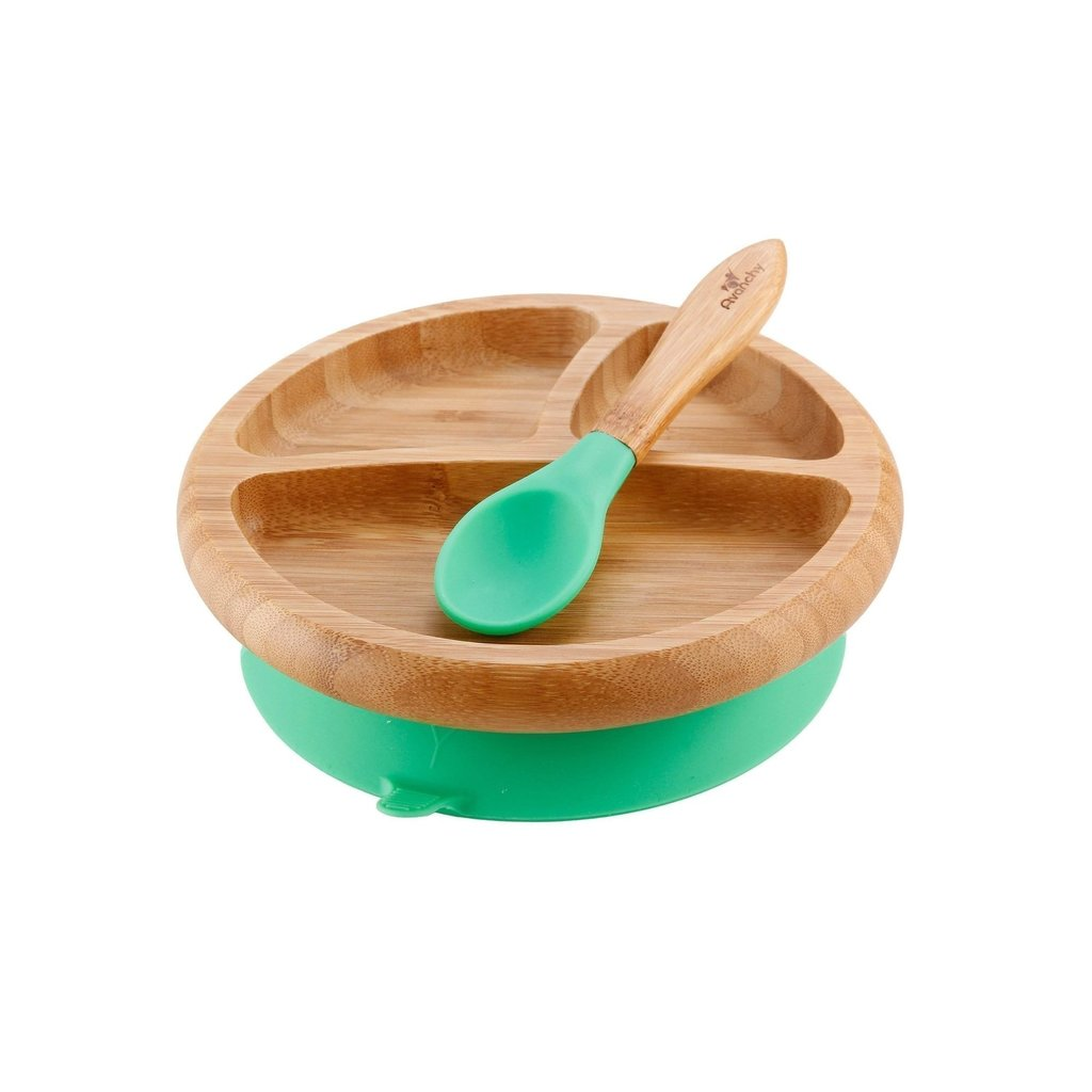 AVANCHY Avanchy Bamboo Suction Plate & Spoon