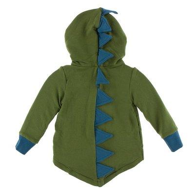 KICKEE PANTS Kickee Pants Solid Fleece Zip-Front Dino Hoodie