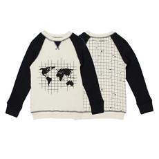 L'OVED BABY L'oved Baby Organic Kids' Graphic Sweatshirt-Globe