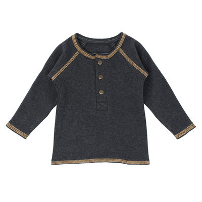 L'OVED BABY L'oved Baby Organic Raglan Henley Heather/Honey