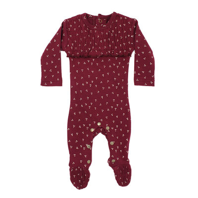 L'OVED BABY L'oved Baby Organic Smocked Overall-Cranberry Dots