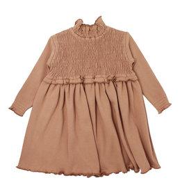 L'OVED BABY L'oved Baby Organic Kids' Smocked Dress-Nutmeg