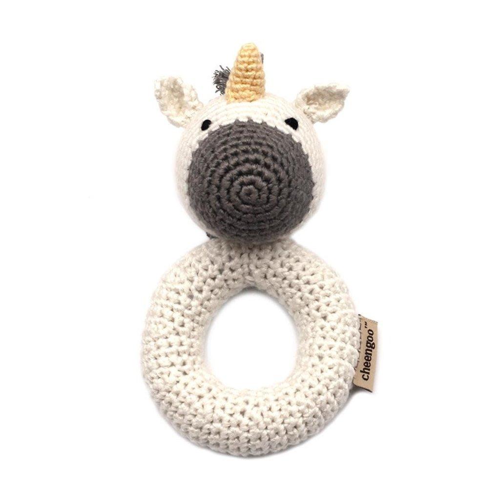 CHEENGOO Unicorn Ring Rattle