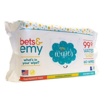 BETS & EMY Bets & Emy Wipes - 60 count