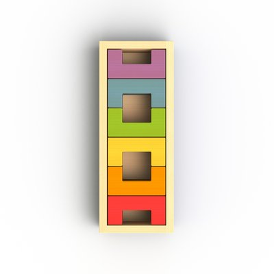BEGIN AGAIN TOYS BeginAgain U Build It Basics 12 Pc Block Set