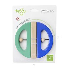 TEGU Tegu Swivel Bug: Green / Teal
