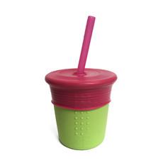 SILIKIDS GoSili 8 oz. Stretchy Lid Straw Cup
