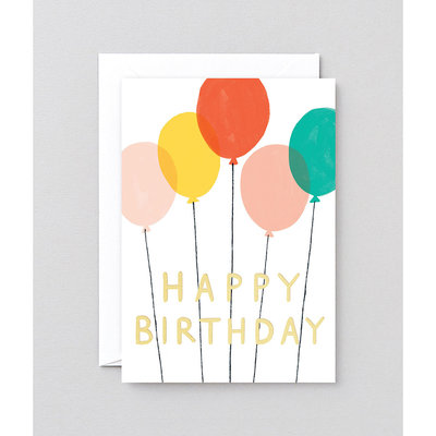 WRAP 'Happy Birthday Balloons' Greeting Card