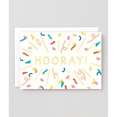 WRAP 'Hooray' Burst Greeting Card