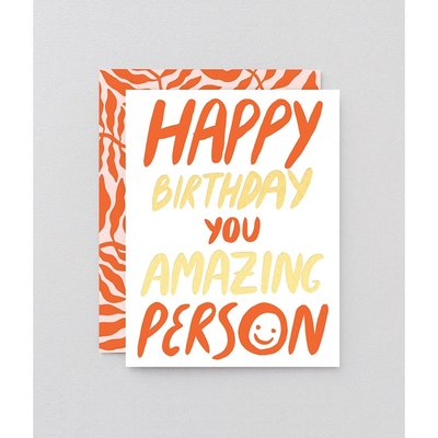 WRAP 'Amazing Person' Greeting Card