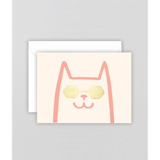 WRAP 'Cat' Mini Letterpress Card