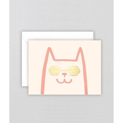 WRAP 'Cat' Mini Letterpress Card