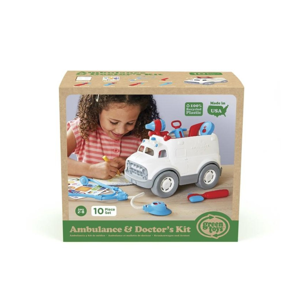 GREEN TOYS Green Toys Ambulance & Doctor's Kit