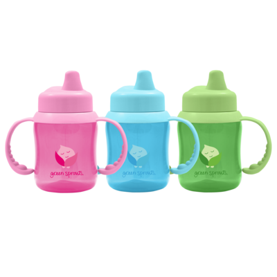 IPLAY Green Sprouts Non-Spill Sippy Cup