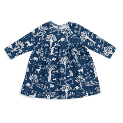 WINTER WATER FACTORY Winter Water Factory Juniper Baby Dress - Forest Navy