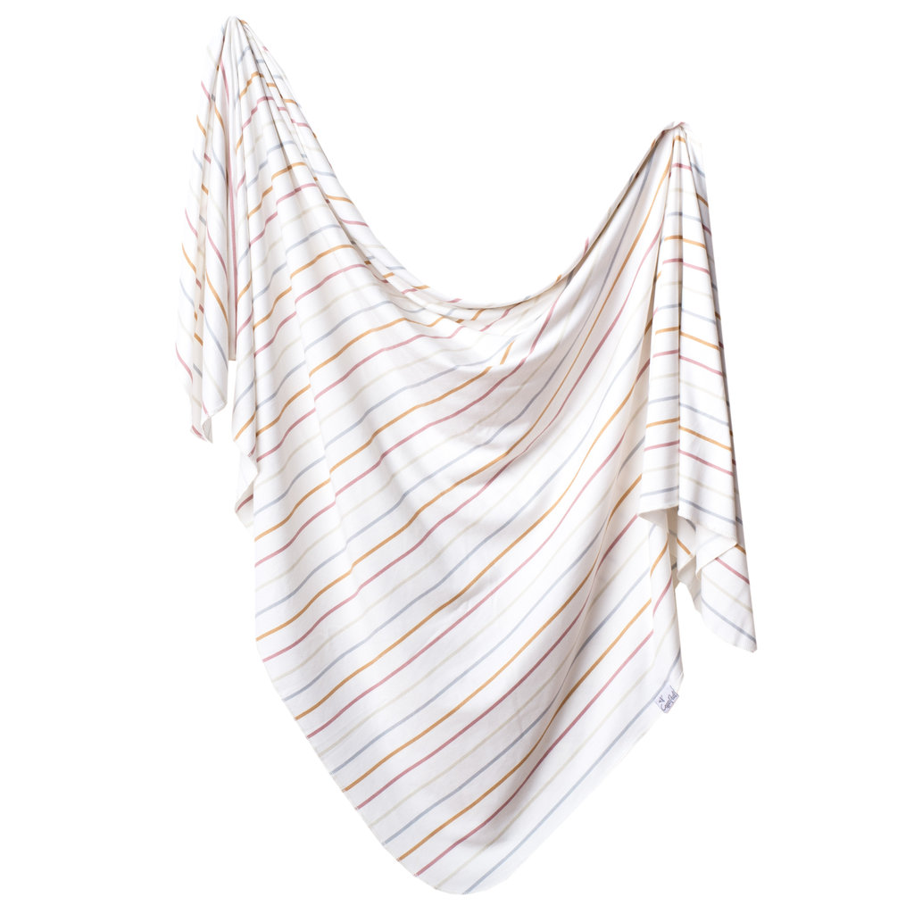 COPPER PEARL Copper Pearl Knit Swaddle Blanket - Stripes