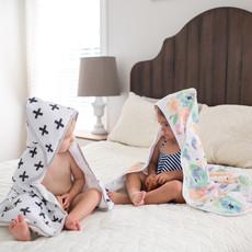 COPPER PEARL Copper Pearl Muslin Hooded Towel
