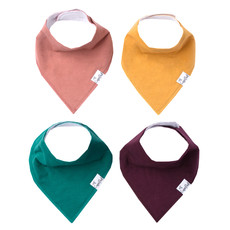 COPPER PEARL Copper Pearl Bandana Bibs - Set of 4 - Solids