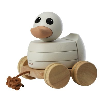 HEVEA Hevea Kawan Rubberwood Pull & Stacker Toy