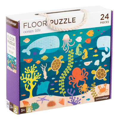 PETIT COLLAGE Petit Collage Ocean Life Floor Puzzle