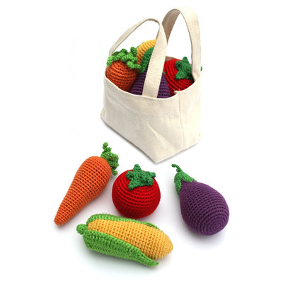 CHEENGOO Cheengoo Crocheted Veggies Rattle - Set of 4