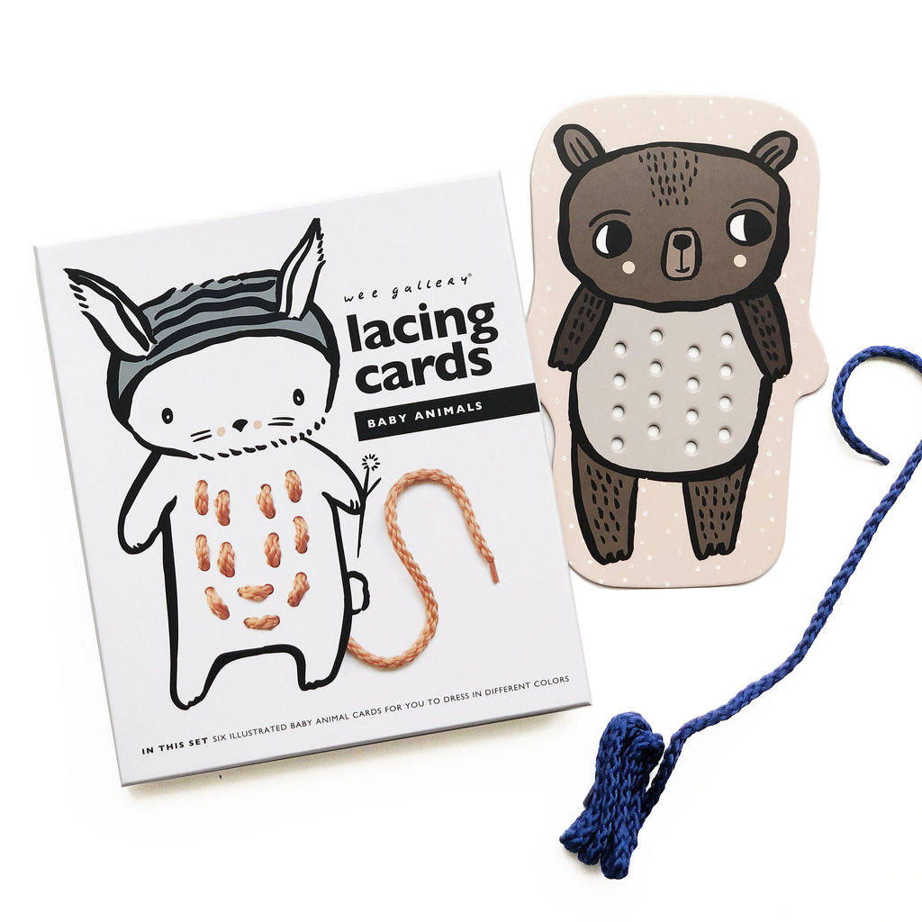 WEE GALLERY Wee Gallery Baby Animal Lacing Cards