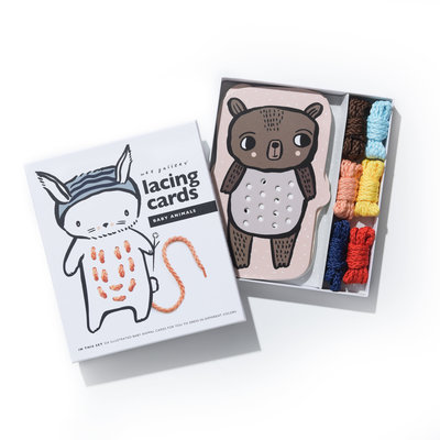WEE GALLERY Wee Gallery Baby Animal Lacing Cards