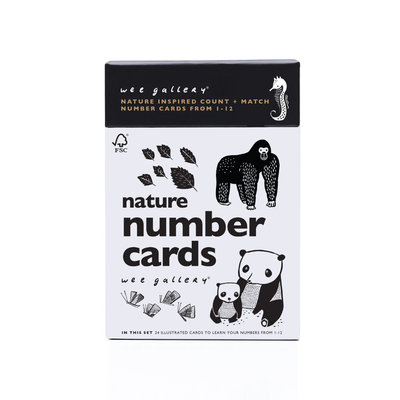 WEE GALLERY Wee Gallery Nature Number Cards