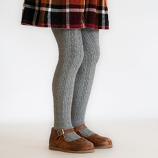 THE LITTLE STOCKING CO Little Stocking Co Cable Knit Tights - Gray