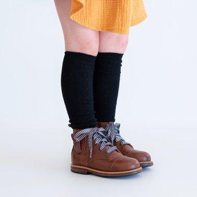 THE LITTLE STOCKING CO Little Stocking Co Knee High Socks - Black